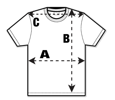 Mens Adult T-Shirt Size Guide