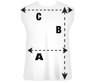 Mens Sleeveless T-Shirt Size Guide