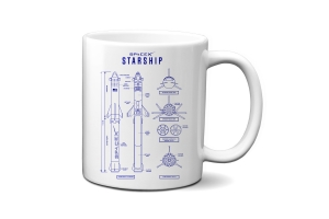 New Starship Blueprint Mug