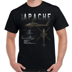AH-64 Apache Longbow Schematic Mens T-Shirt
