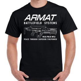 Armat Systems M41A Pulse Rifle Logo Adult T-Shirt
