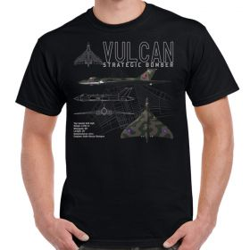 Vulcan Bomber Schematic Adult T-Shirt
