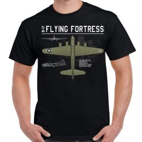 B-17 Flying Fortress Schematic Design T-Shirt