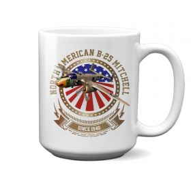 B-25 Mitchell Stars and Stripes 15oz Mug