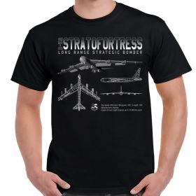 B-52 Stratofortress Schematic Adult Shirt