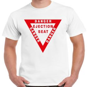 Danger Ejection Seat Aviation Shirt