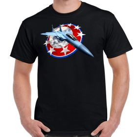 F-15 Eagle In Stars Men's T-Shirt