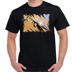 F-16 Falcon Missile Away Adult T-Shirt
