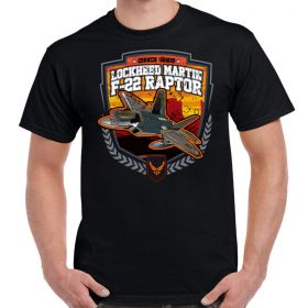 F-22 Lockheed Martin Raptor Black T-Shirt