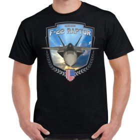 F-22 Raptor In Flight Men's Shirt Black