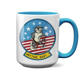F-14 Tomcat Felix Anytime Baby Light Blue 15oz Mug