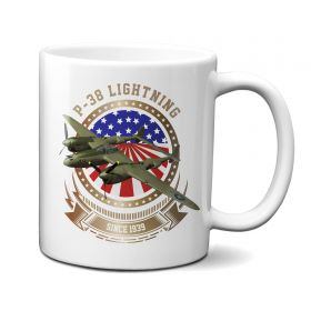 P-38 Lightning Stars and Stripes 11oz Mug