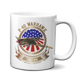 P-40 Warhawk Stars and Stripes 11oz Mug