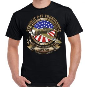 P-47 Thunderbolt Stars and Stripes Men's T-Shirt