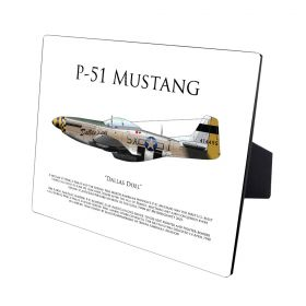 P-51 Mustang Dallas Doll Hardboard Photo Print