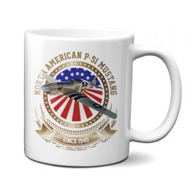 P-51 Mustang Stars and Stripes 11oz Mug