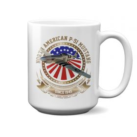 P-51 Mustang Stars and Stripes 15oz Mug