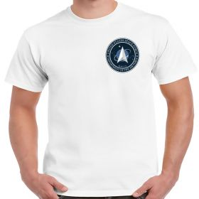 Space Force Chest Logo White Shirt