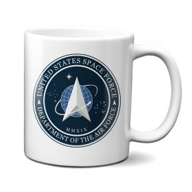 United States Space Force, Department of The Air Force Logo, 11 oz mug