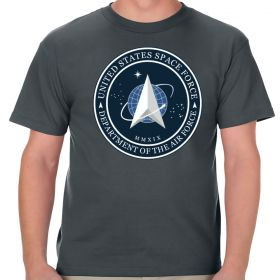 United States Space Force Logo Charcoal Shirt