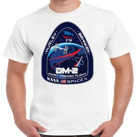 NASA SpaceX DM-2 First Crewed Flight White Shirt