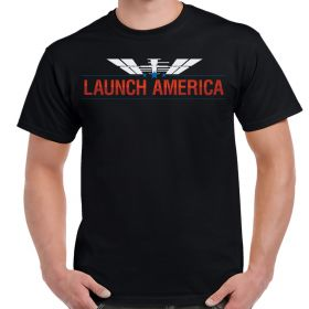 Nasa Launch America Color Logo Shirt