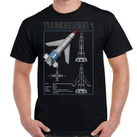 Thunderbirds Thunderbird 1 Schematic Adult T-Shirt
