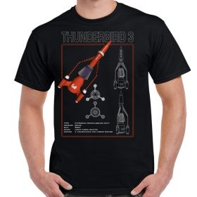 Thunderbird 3 Schematic Adult T-Shirt