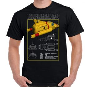 Thunderbird 4 Schematic Adult T-Shirt