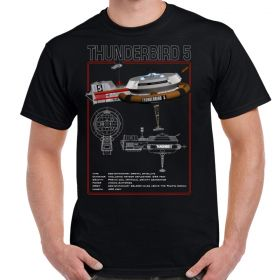 Thunderbird 5 Schematic Adult T-Shirt
