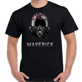Top Gun Maverick's Helmet T-Shirt Black