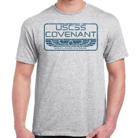 USCSS Covenant Distressed Athletic Grey Adult T-Shirt