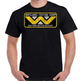 Weyland Yutani Corp Logo Distressed Adult T-Shirt