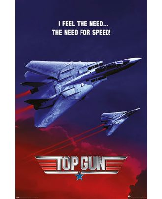 Top Gun I Feel The Need - The Need For Speed 24x36 Poster