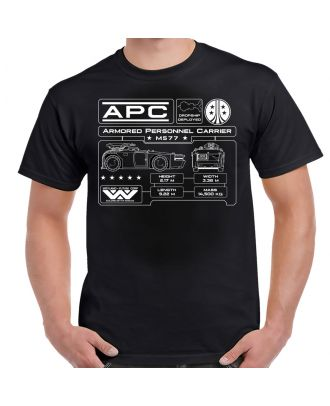 Aliens M577 APC Specifications Data Plate T-Shirt