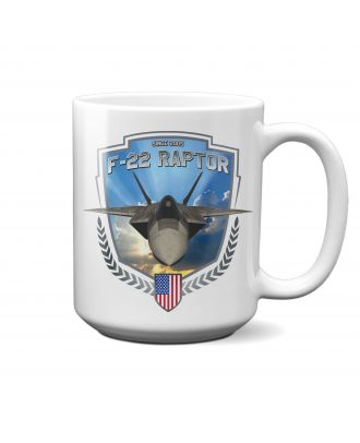 F-22 Raptor In Flight 15oz Mug