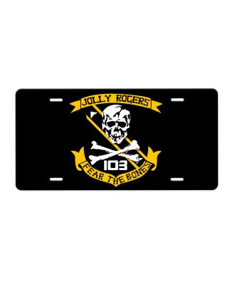 Jolly Rogers VF-103 Fear The Bones Aluminum License Plate