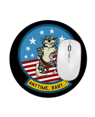 "Tomcat Anytime Baby Patch 7.5"" Round Mousepad"