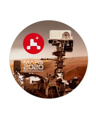 Mars 2020 Perseverance Rover Round Mousepad