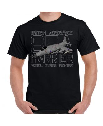 British Aerospace Sea Harrier Adult Shirt