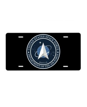 Space Force Logo Aluminum License Plate