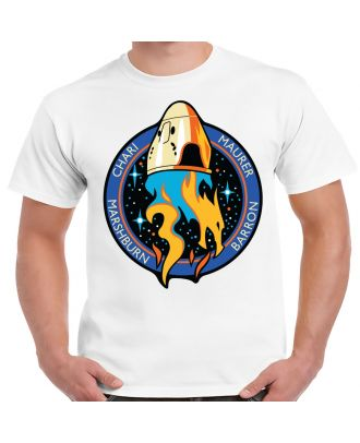 SpaceX Crew-3 Mission Logo White Adult T-Shirt