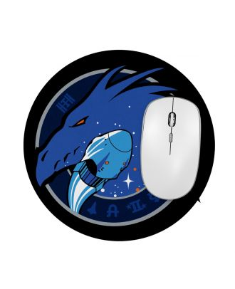"""SpaceX Dragon Mission Crew-1 Patch 7.5"""" Round Mousepad"""