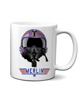 Top Gun Merlin Helmet Mug