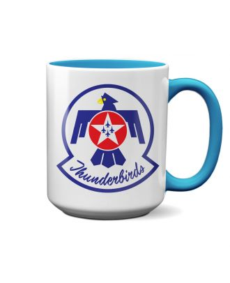 USAF Thunderbirds Logo Light Blue 15oz Mug
