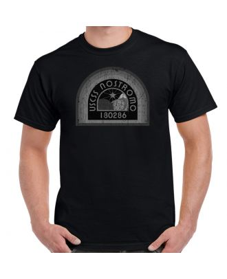 Nostromo Grey Patch Distressed Adult T-Shirt