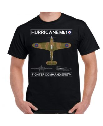 WW2 Hurricane Mk1 RAF Schematic Men's T-Shirt