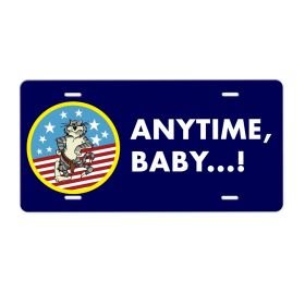 Anytime Baby Aluminum License Plate