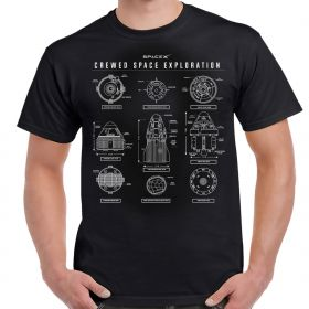 SpaceX Crewed Space Exploration Adult T-Shirt