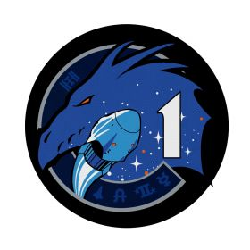 """SpaceX Crew-2 Mission Patch 7.5"""" Round Mousepad"""